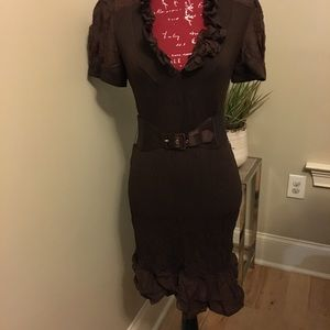 Coco brown form fitting dress